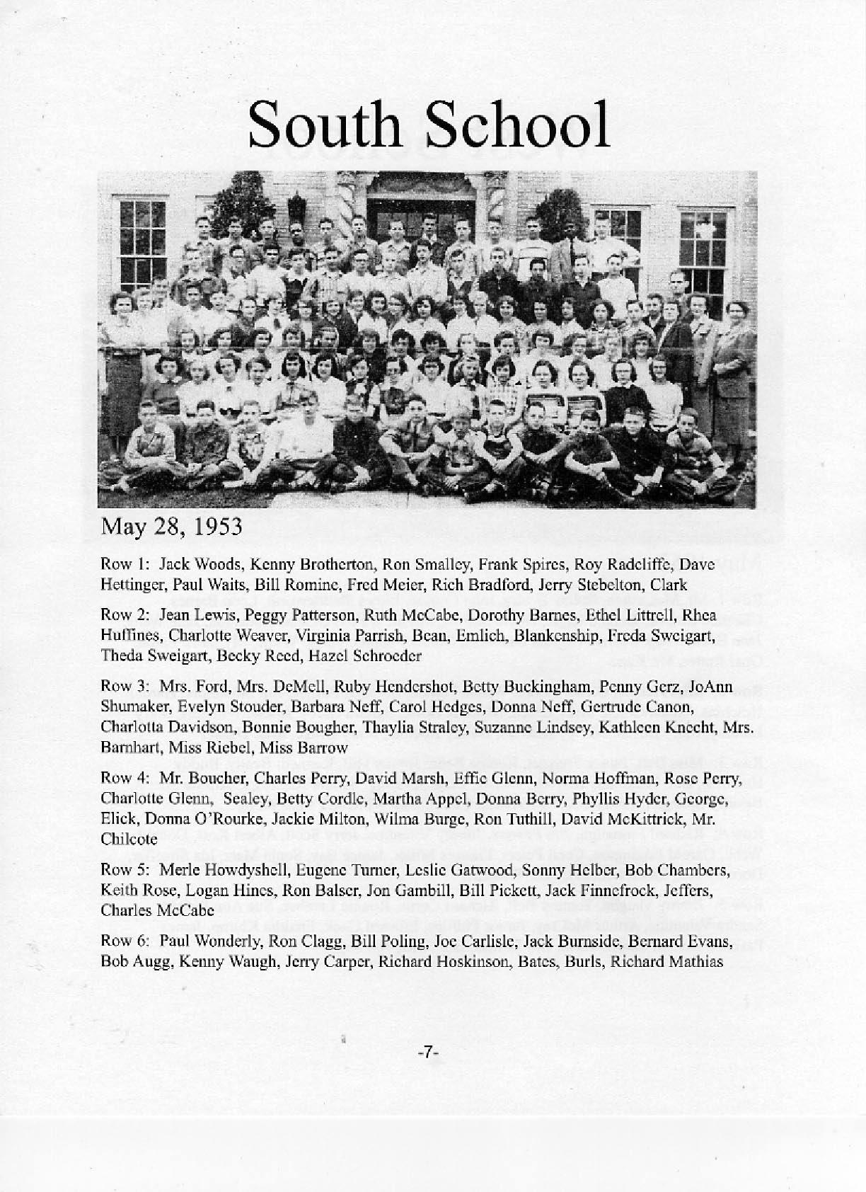 photos lancaster high school class of  eighth grade class photos 1953